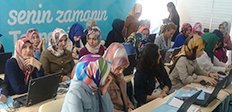 Erzurumlu kadınlar internet'i öğrendi