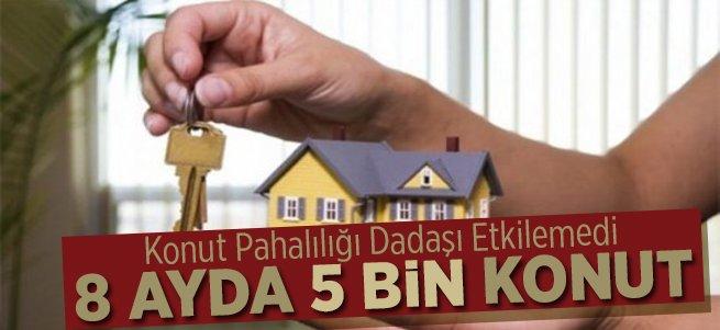Erzurum'da 8 ayda 5 bin 396 konut satıldı