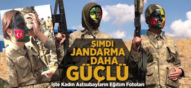 İşte Jandarma'nın kadın astsubay adayları