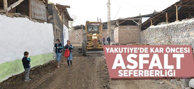 Yakutiye'de kar öncesi asfalt seferberliği