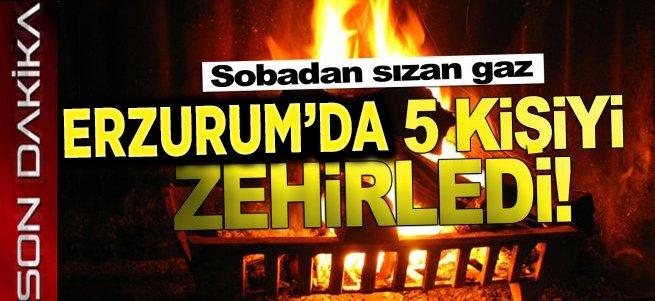 Erzurum'da aynı aileden 5 kişi zehirlendi