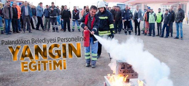 Palandöken belediyesi personeline  yangın eğitimi