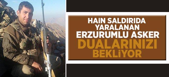 Erzurumlu asker Kuzey Irak'ta yaralandı