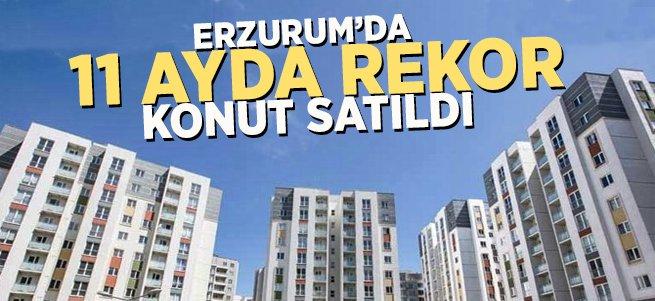 Erzurum'da 11 Ayda 7 Bin 942 Konut Satıldı