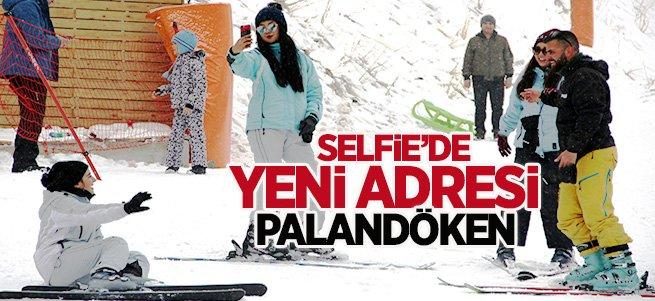 Palandöken'de hafta sonu selfie keyfi