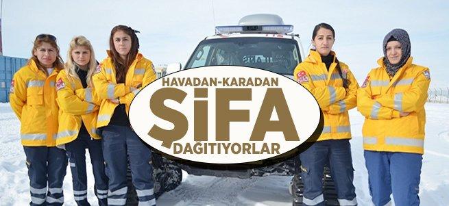 Erzurum Sağlık Müdürlüğü Ekipleri Şifa Dağıtıyor