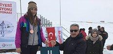 Kayakla Oryantik'in kalbi Erzurum'da attı