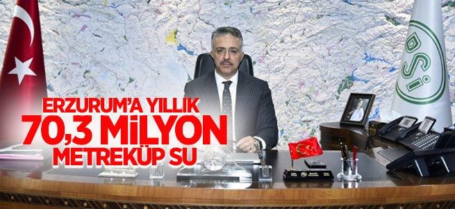 Erzurum'a yıllık 70,3 milyon metreküp içme suyu