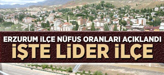 Erzurum ilçe nüfusları açıklandı