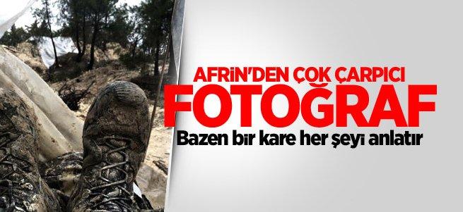 Afrin'den çok çarpıcı fotoğraf