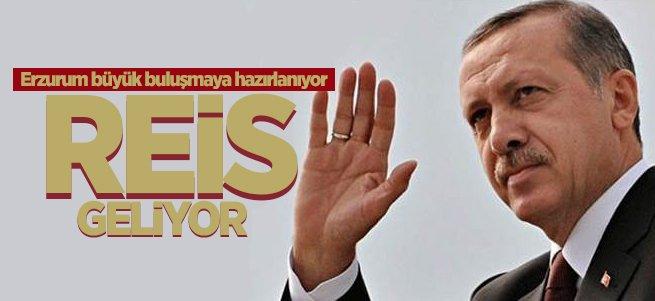 Cumhurbaşkanı Erdoğan Erzurum'a geliyor