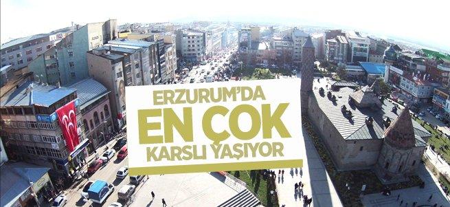 Erzurum'da en çok Karslılar yaşıyor!