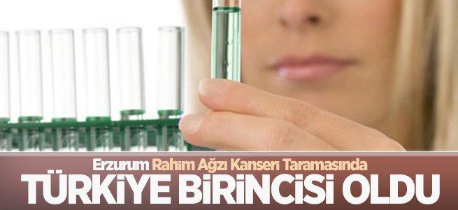 Erzurum Rahim Ağzı Kanseri Taramasında Birinci