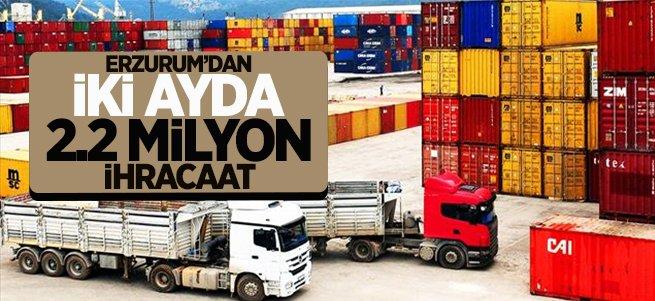 Erzurum'dan 2 ayda 2.2 milyonluk ihracat