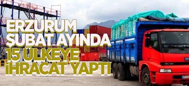 Erzurum Şubat'ta 15 ülkeye ihracat yaptı