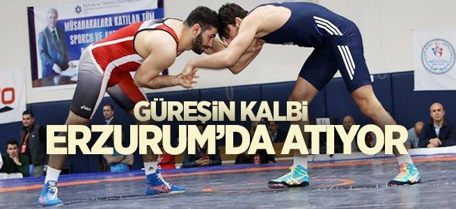 Güreş'in kalbi Erzurum'da atıyor
