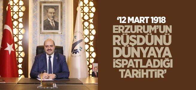 Başkan Orhan'dan anlamlı 12 Mart mesajı