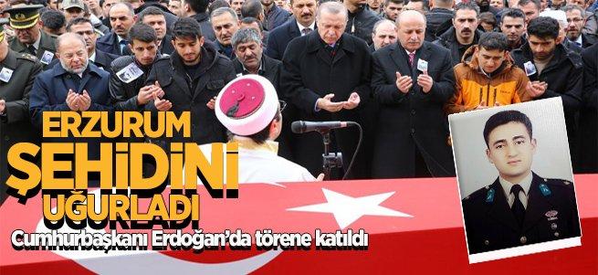 Afrin Şehidini binlerce Erzurumlu uğurladı