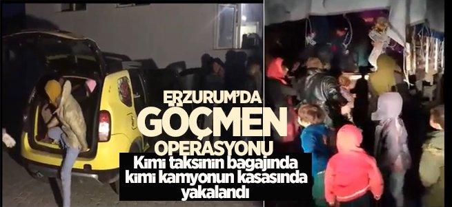 Erzurum'da 502 göçmen yakalandı