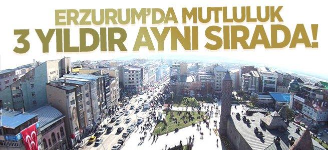 Erzurum mutlulukta 3 yıldır 20. sırada