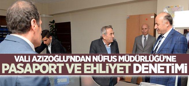 Vali Azizoğlu'ndan nüfus müdürlüğü'ne denetim