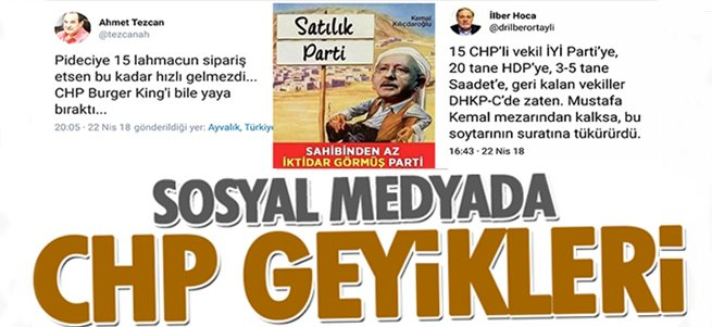 Sosyal medyada CHP geyikleri