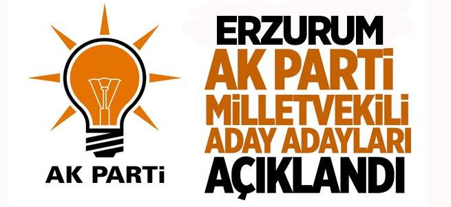 Ak Parti'nin Erzurum Aday Adayları Açıklandı