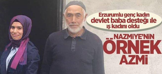 Erzurumlu Nazmiye devlet desteği ile iş kadını oldu