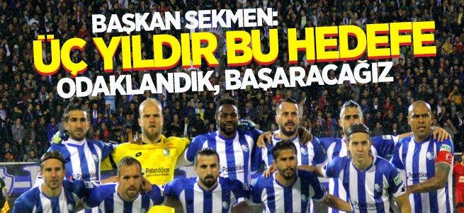Başkan Sekmen'den BB Erzurumspor açıklaması