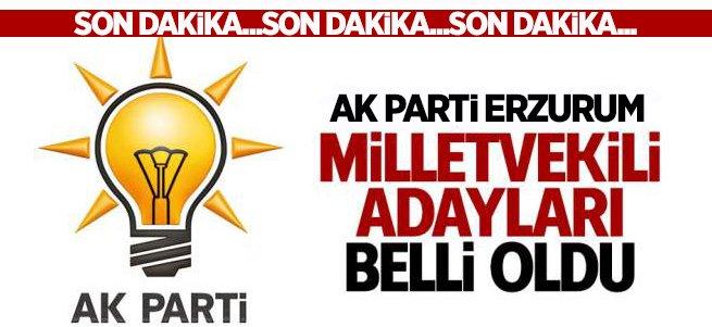 AK Parti Erzurum Milletvekili adayları açıklandı....
