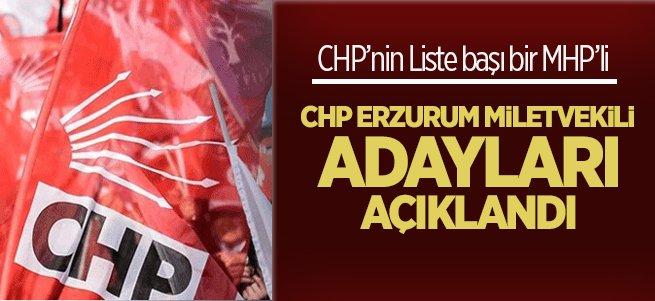 CHP Erzurum Milletvekili adayları açıklandı....