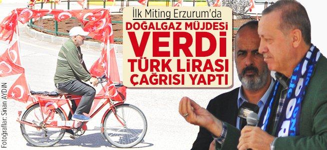 Erdoğan Erzurum'dan doğalgaz müjdesi verdi