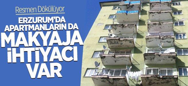 Erzurum'da apartmanların da makyaja ihtiyacı var!