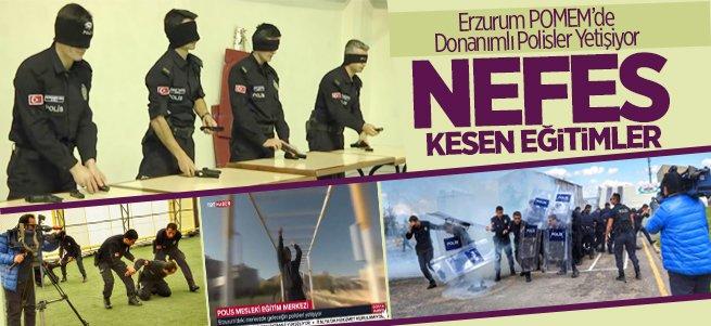Erzurum POMEM'de Donanımlı Polisler Yetişiyor