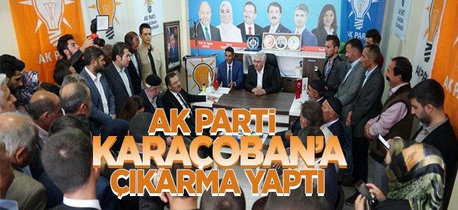 AK Parti Karaçoban'a çıkarma yaptı