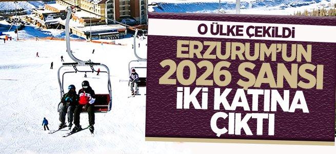 Erzurum'un 2026 şansı iki katına çıktı