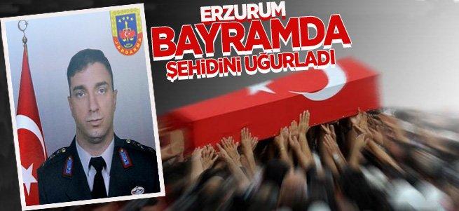 Erzurum Bayramda Şehidini Uğurladı