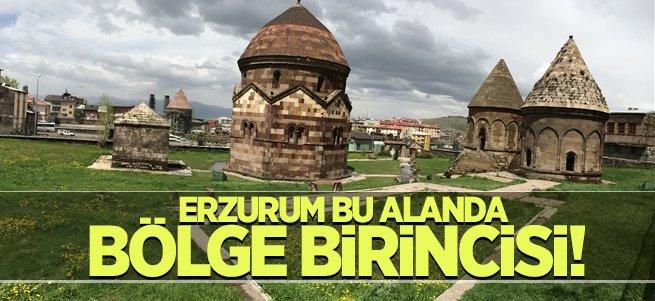 Erzurum taşınmaz kültür varlıklarında bölge birincisi