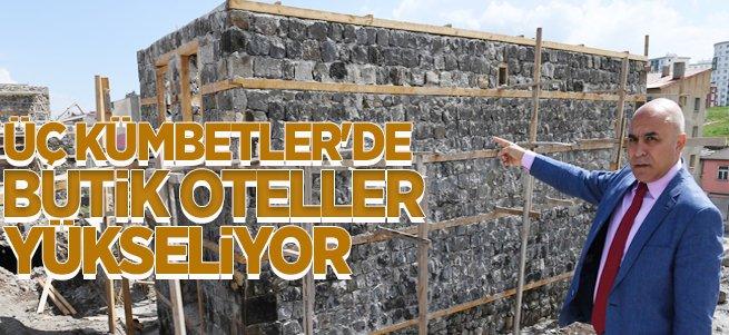 Üç Kümbetler'de Butik Oteller Yükseliyor