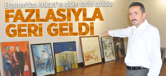 Tarihi tablolar fazlasıyla Erzurum'a geri döndü