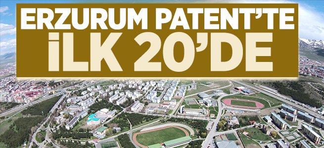 Erzurum Patent'te ilk 20'de...