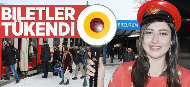 Erzurum'da tren biletleri tükendi