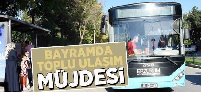Bayramın birinci günü toplu taşıma ücretsiz