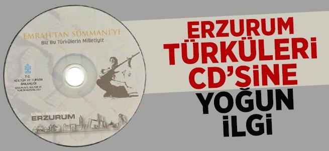 Erzurum türküleri CD'sine yoğun ilgi