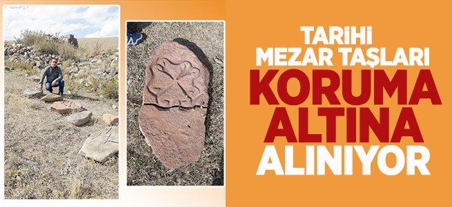 Tarihi mezar taşları koruma altına alınıyor