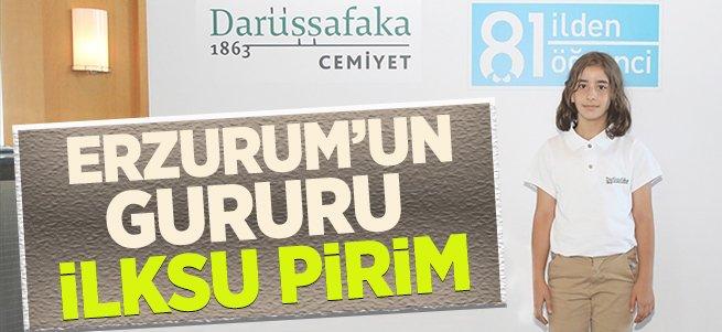 İlksu Pirim Erzurum'un gururu oldu