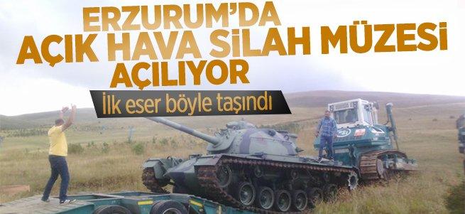 Erzurum'da ''Açık Hava Silah Müzesi'' Açılıyor