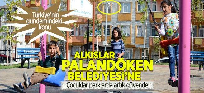 Palandöken'deki parklar 24 saat izleniyor