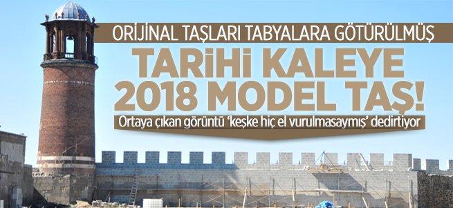 Tarihi kaleye 2018 model taş!