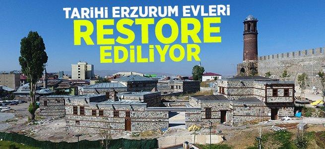 Tarihi Erzurum Evleri Restore Ediliyor